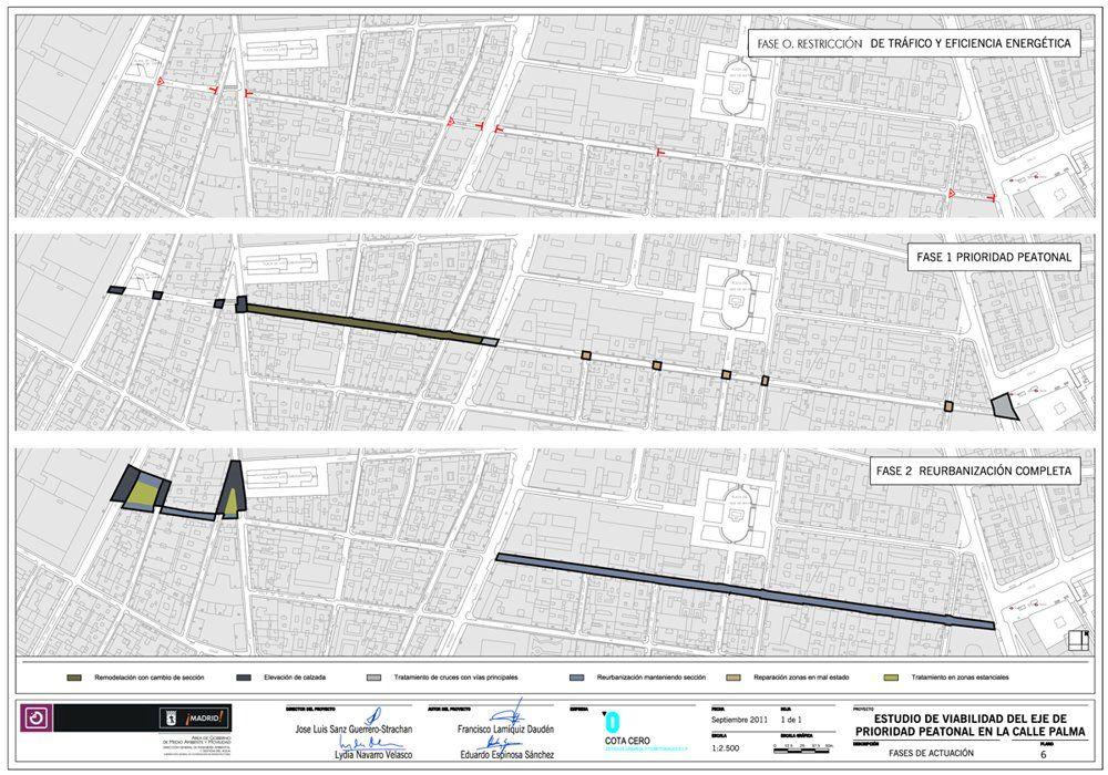 Planos para la peatonalización de la calle Palma en 2011 | ECOMOVILIDAD