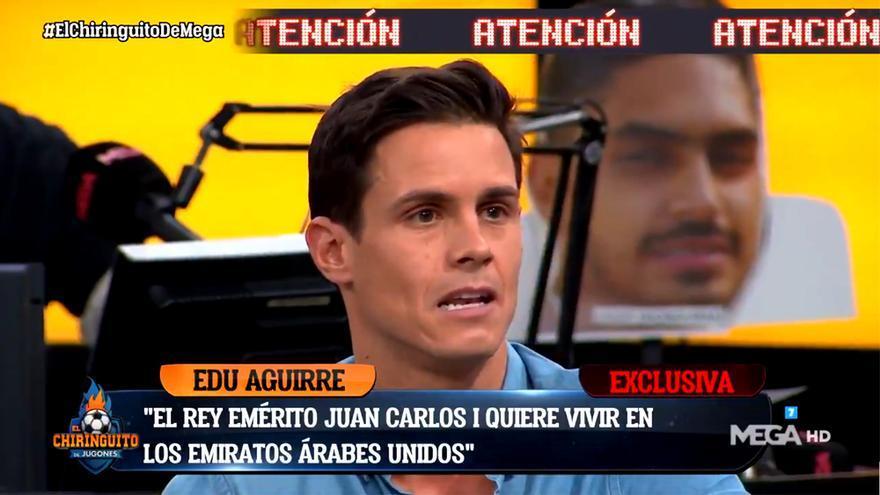 Edu Aguirre en 'El Chiringuito'