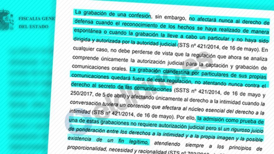 Extracto de la Circular de la Fiscalía captación y grabación de comunicaciones