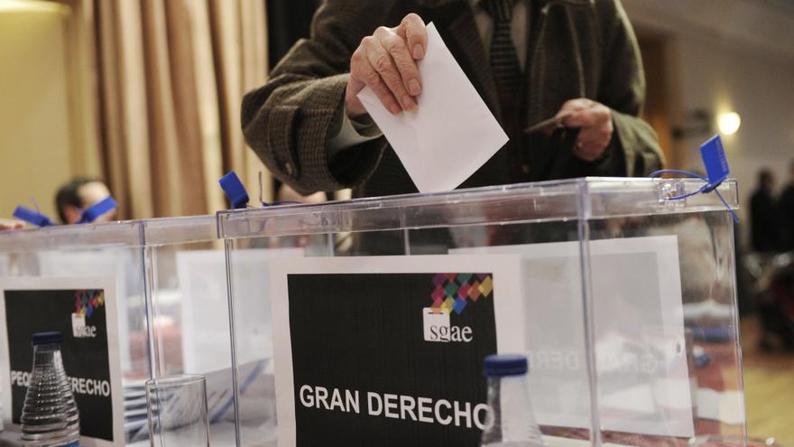 Imagen de archivo de unas elecciones en la SGAE