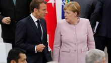 La canciller alemana, Angela Merkel, y el presidente de la República de Francia, Emmanuel Macron.