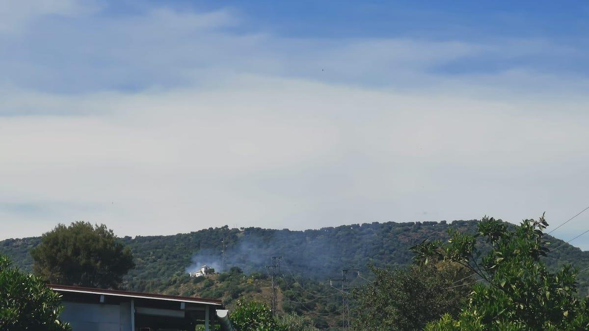 Imagen del incendio en Encinares de Alcolea.
