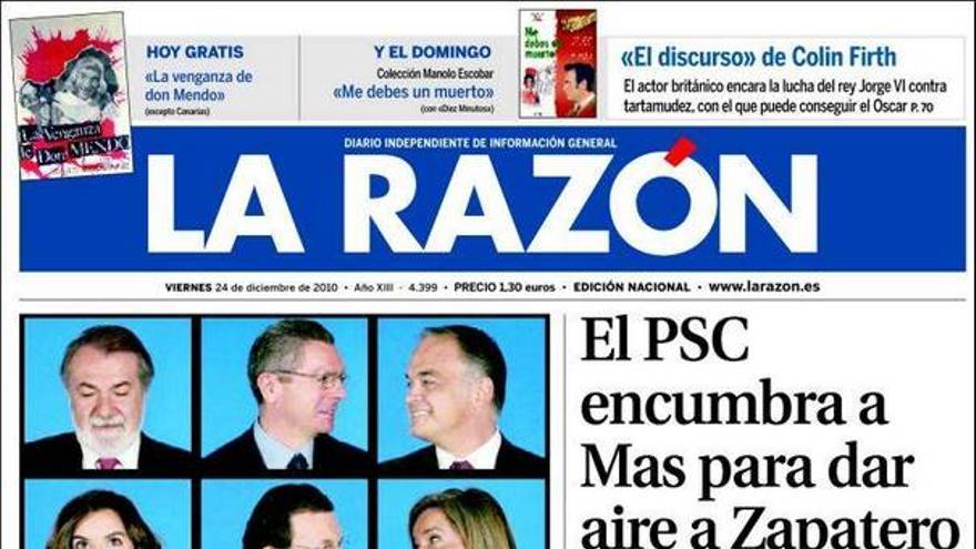 De las portadas del día (24/12/2010) #9