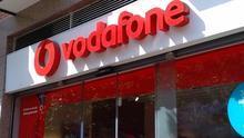 Entrada a una tienda de Vodafone.