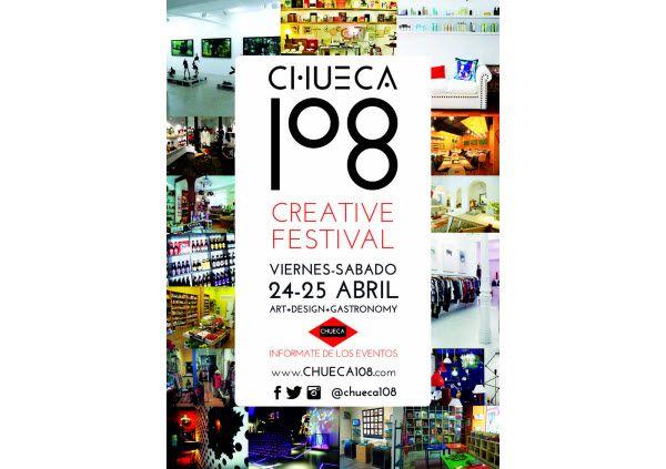 Cartel Festival Creativo Chueca 108 del 24 y 25 de abril