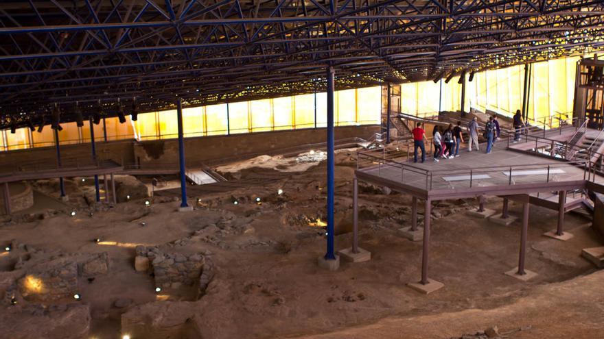 Poblado prehispánico de Agáldar, en el parque Arqueológico Cueva Pintada, Gran Canaria.