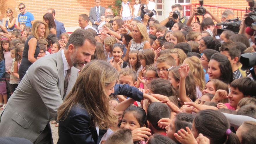 """Los Príncipes inauguran el curso con un mensaje de """"ánimo"""" a la comunidad educativa en estos """"tiempos difíciles"""""""