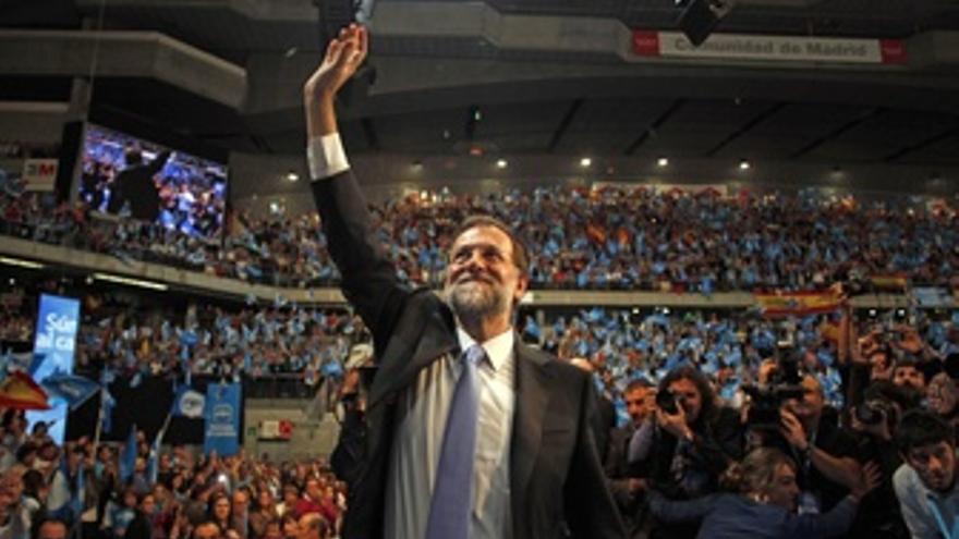 Mariano Rajoy En Un Mitin En Madrid