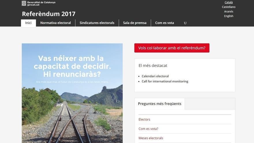 La Guardia Civil ordenó a CDMON sobre las 17.00 horas cerrar la web del 1-O