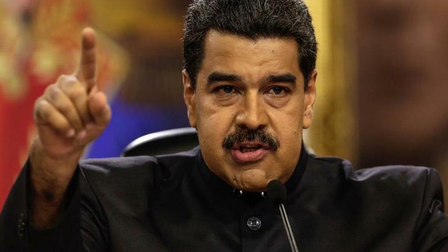 En la imagen un registro del presidente de Venezuela, Nicolás Maduro.