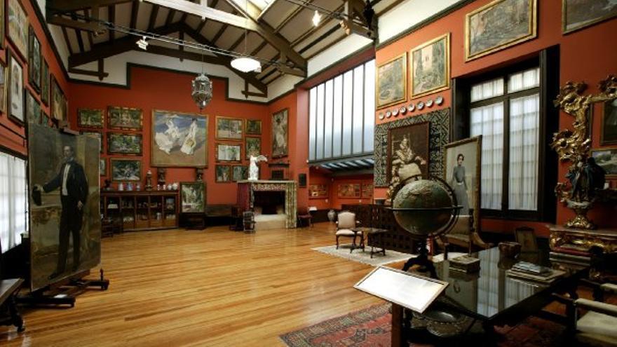 Una de las galerías del Museo Sorolla.