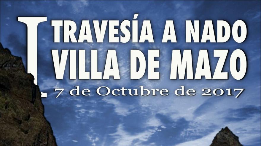 Cartel de la primera 'Travesía a nado' de Villa de Mazo.