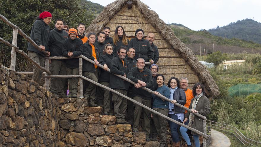 Alumnos y alumnas del programa 'Puntallana Verde y Sostenible'.