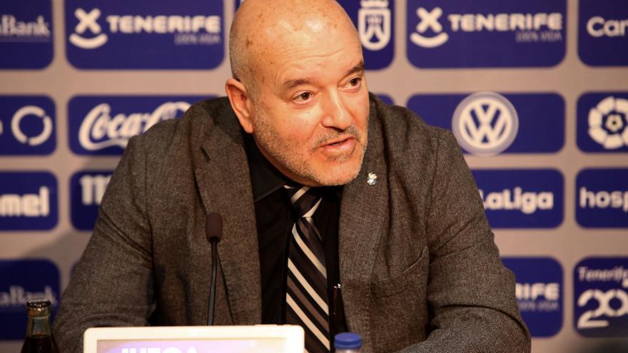 Miguel Concepción, en una rueda de prensa en el Heliodoro