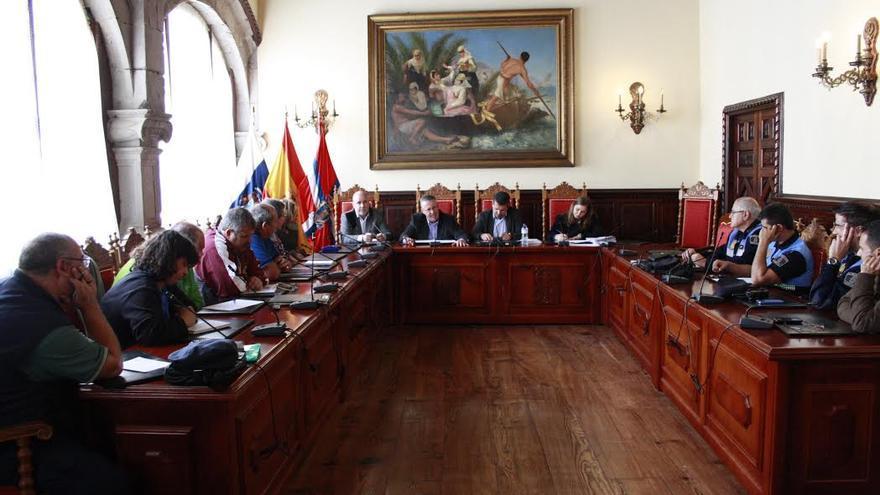 En la imagen, sesión plenaria de Santa Cruz de La Palma.