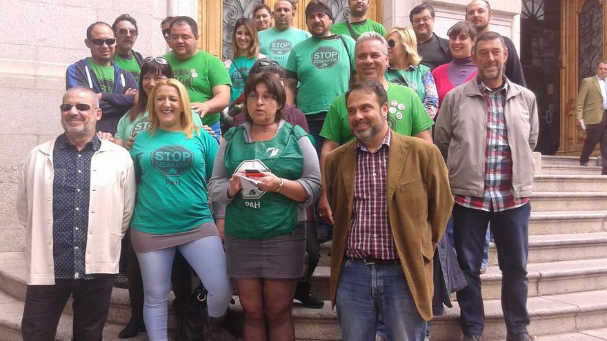 Miembros de la Plataforma de la PAH en Castilla-La Mancha