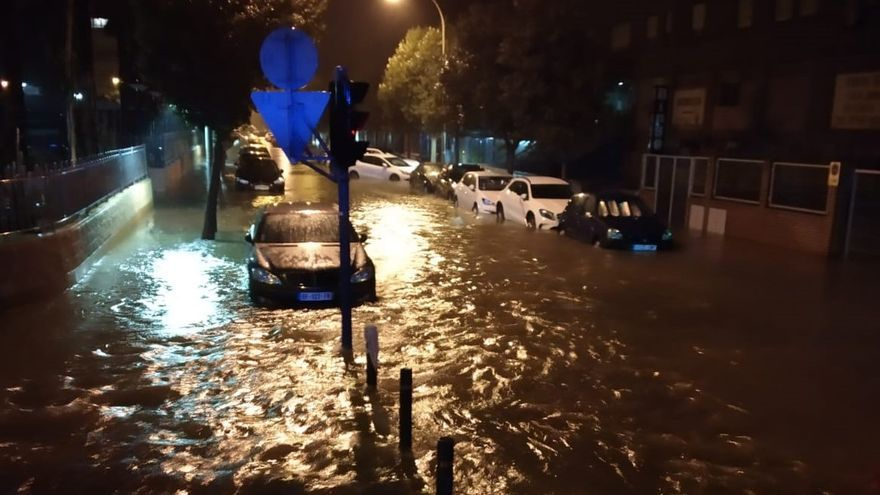 Los efectos del temporal de lluvia en la ciudad de Alicante