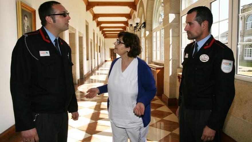 Personal de seguridad y limpieza de la Diputación de Lugo