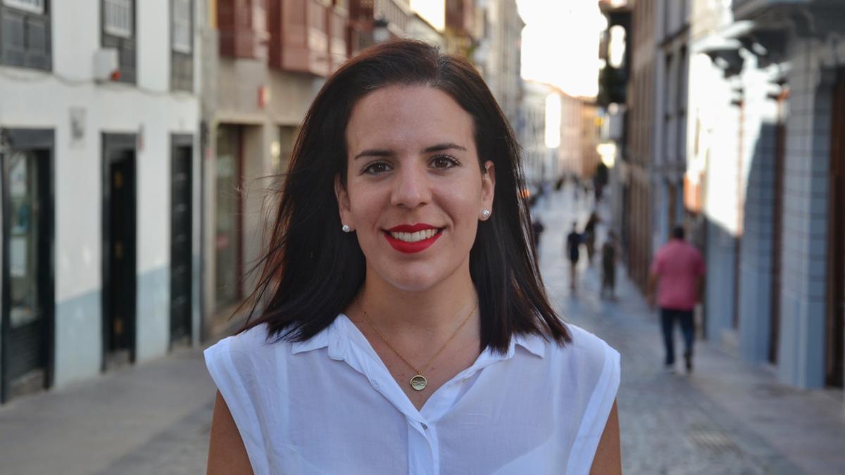 Melissa Hernández, concejal de  Educación del Ayuntamiento de Santa Cruz de La Palma.