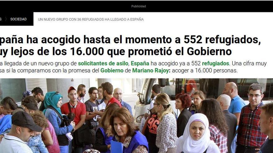 Información de la agencia EFE, recogida por La Sexta, sobre la comparecencia del rey en la reunión sobre refugiados en la ONU.