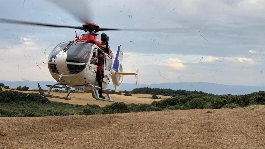 Helicóptero de rescate de la Ertzaintza