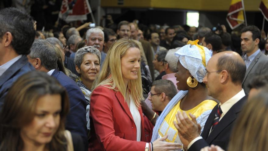 """Zaida Cantera, """"sin miedo"""" ante la campaña, ve """"ilusionante"""" su primer gran mitin con el PSOE"""