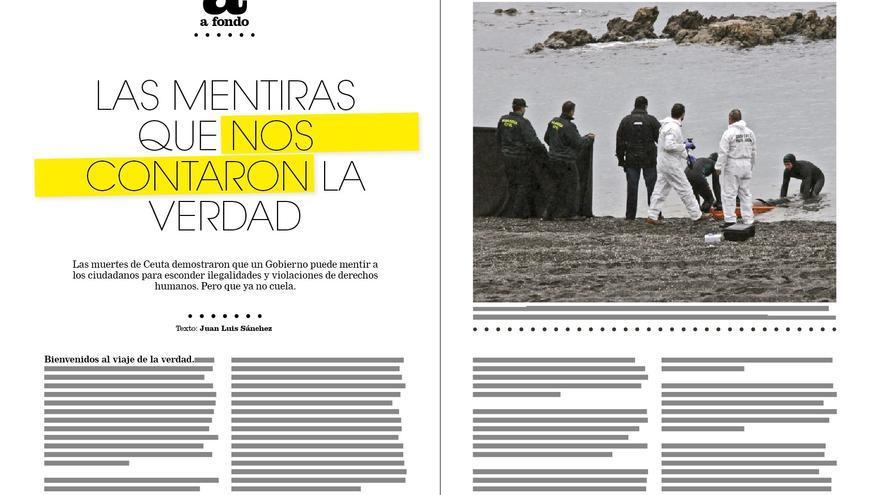 Reportaje de Juan Luis Sánchez en la revista de eldiario.es sobre inmigración, Cuadernos #8.