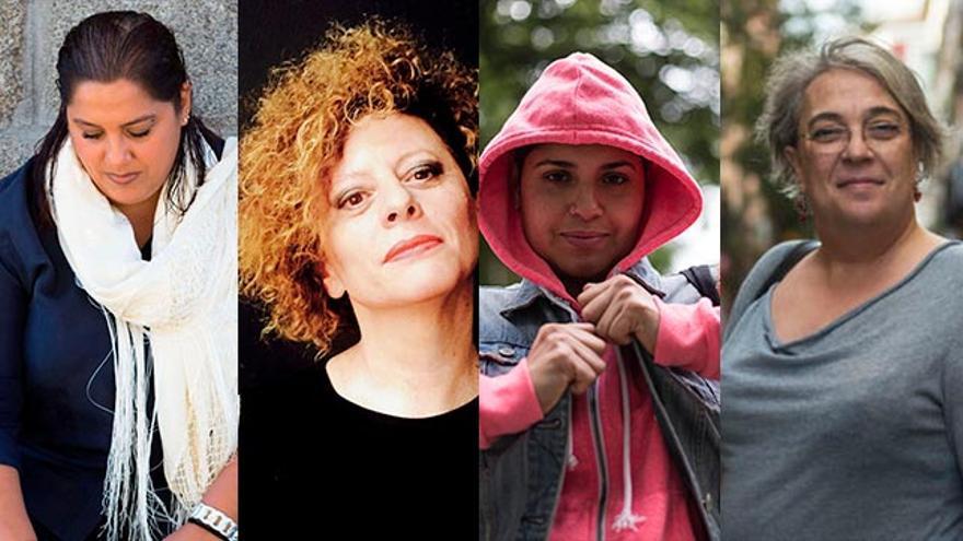 Noelia, Fefa, Tatiana y Maribel, cuatro de las mujeres entrevistadas para el reportaje