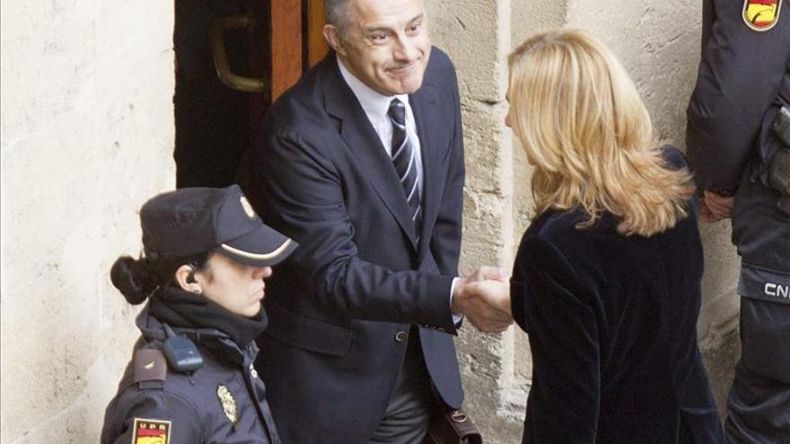 La infanta Cristina declara ante el juez en Palma