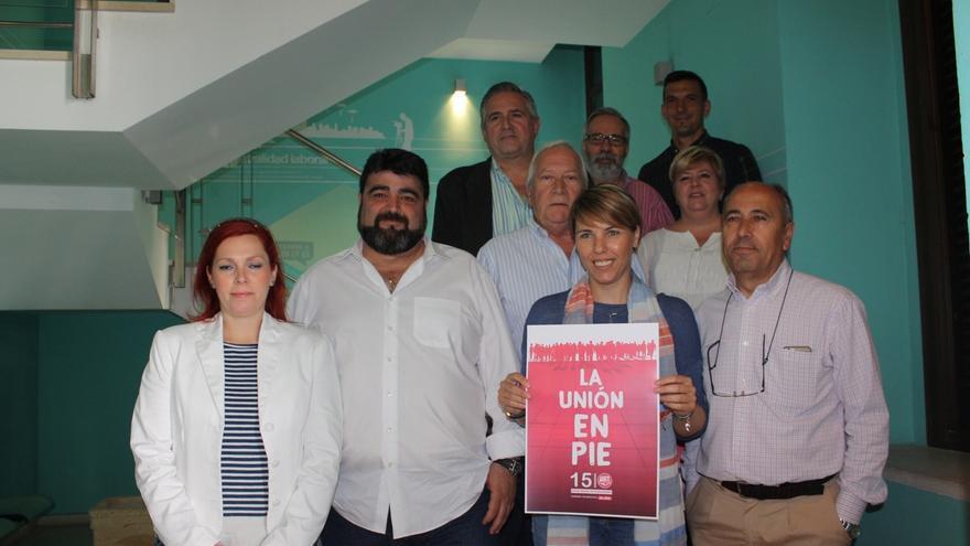 Isabel Araque presenta a Vicente Palomares como candidato para sustituirle al frente de UGT-Córdoba