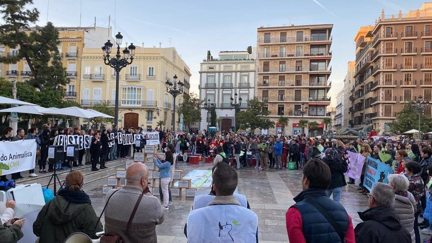 Concentración de Pacma en Valencia.