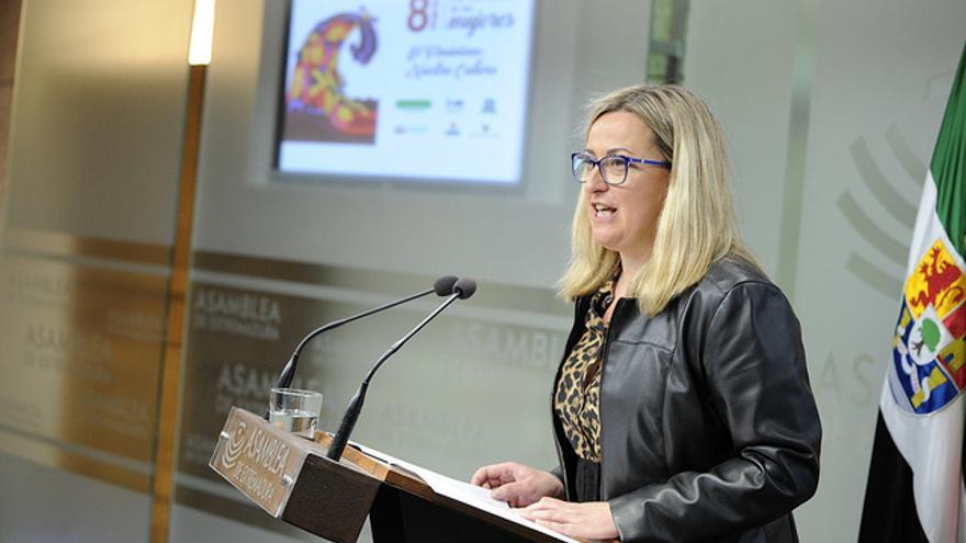 Blanca Martín Delgado, presidenta de la Asamblea de Extremadura