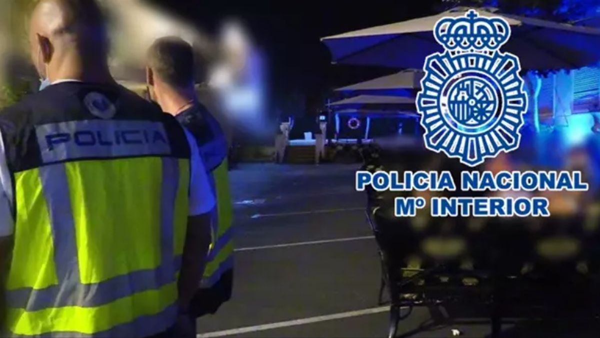 Imagen de la intervención de la Policía Nacional en Alicante.