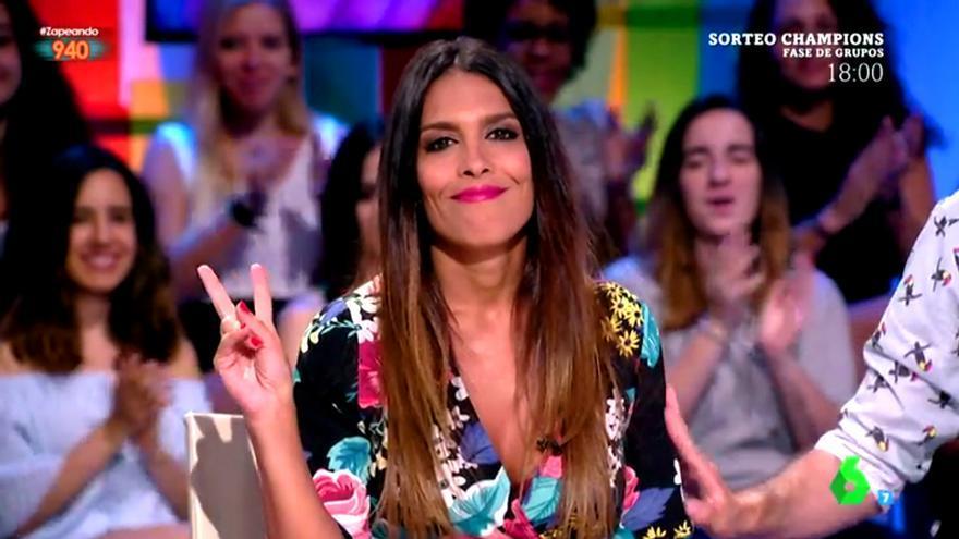 Lorena Castell vuelve frenética a Zapeando con su topless en Ibiza