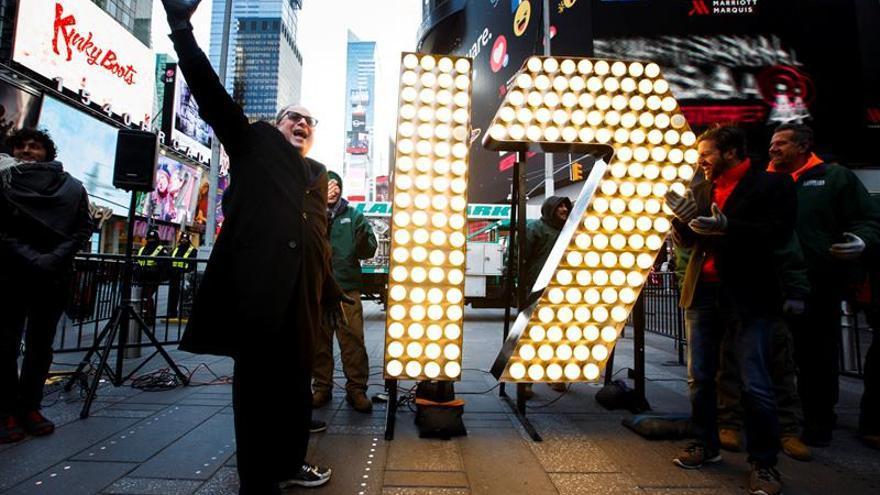Nueva York comienza los preparativos para recibir el nuevo año