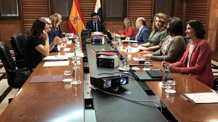 Reunión del Conseno de Gobierno de Canarias celebrada este lunes.