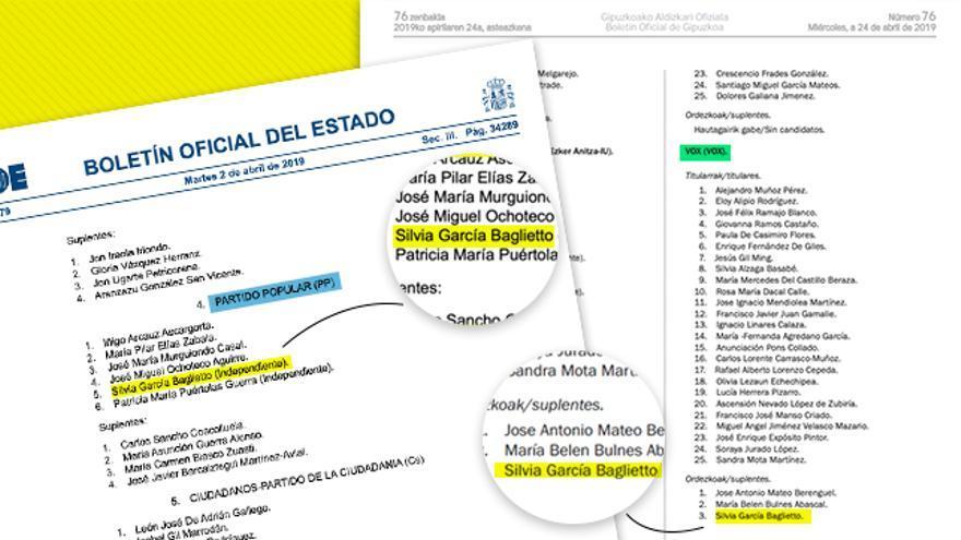Capturas del Boletín Oficial del Estado y del Boletín Oficial de Gipuzkoa.