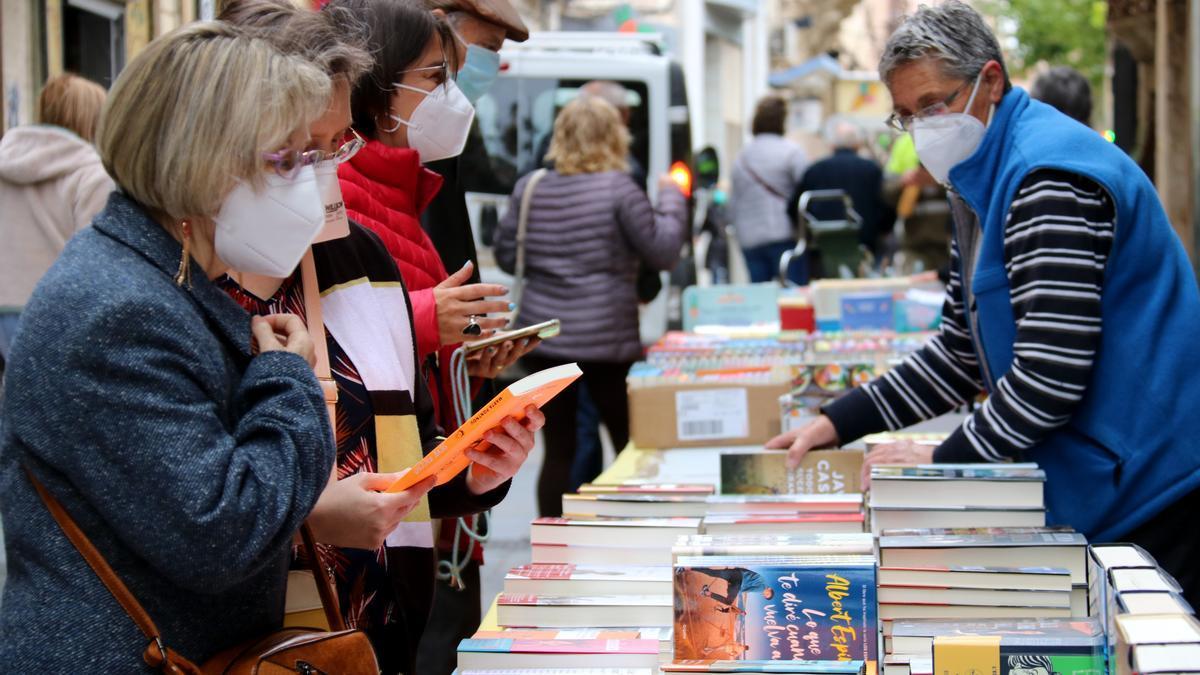 La parada de una librería de Valls, en Tarragona