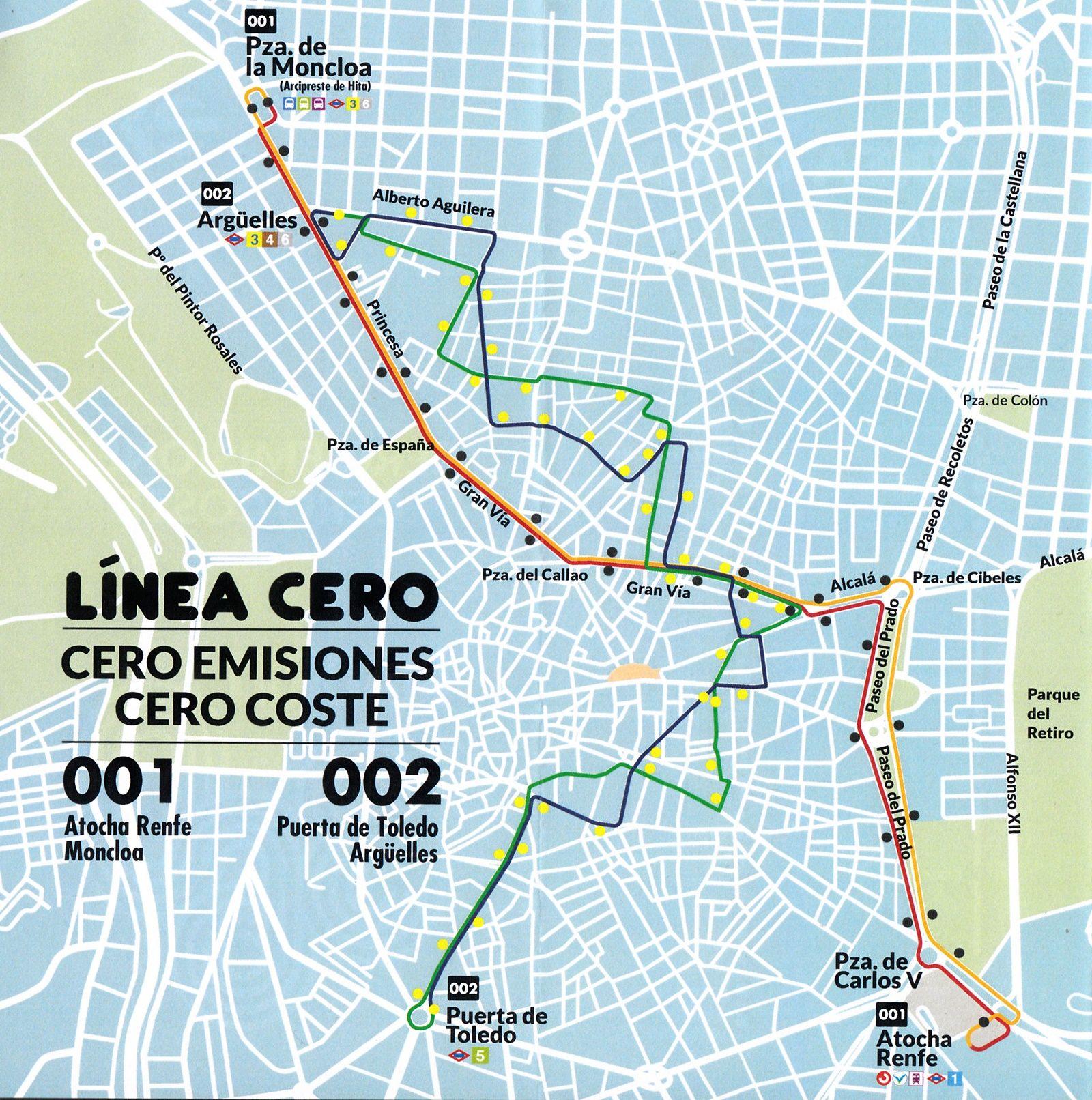 Mapa Lineas Emt Madrid.Primer Viaje En La Linea Cero 001 De La Emt Gratis Limpio Y De Duracion Incierta Somos Chamberi