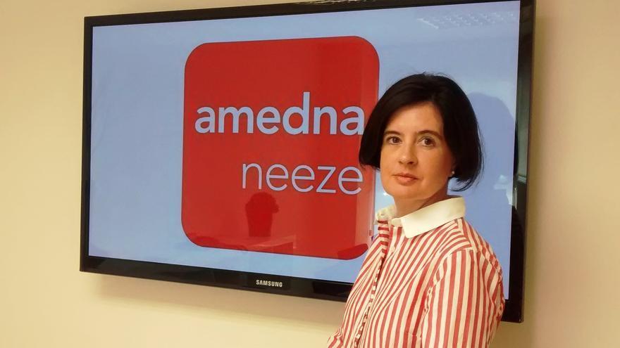 La vicepresidenta de la asociación Amedna, Cristina Sotro.