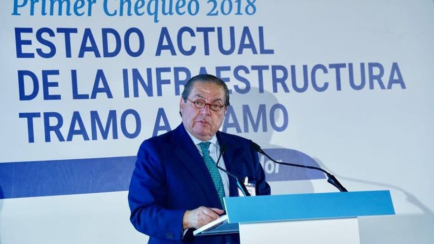 Vicente Boluda, presidente de AVE, en un acto de reivindicación del Corredor Mediterráneo