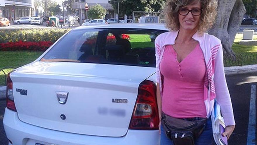 La presidenta de la Asociación de Asalariados del Taxi de Las Palmas de Gran Canaria, María Eugenia García.
