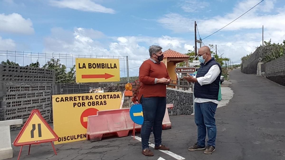 Noelia García Leal, alcaldesa del Ayuntamiento de Los Llanos de Aridane,  y Fran Leal, concejal de Obras.