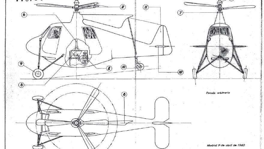 "Federico Cantero creó un prototipo de helicóptero al que llamo ""La libélula española"""