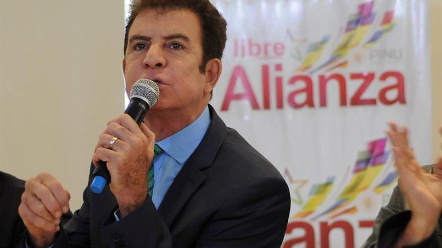 Nasralla pide suspender la ayuda externa al Gobierno de Honduras hasta resolver las elecciones