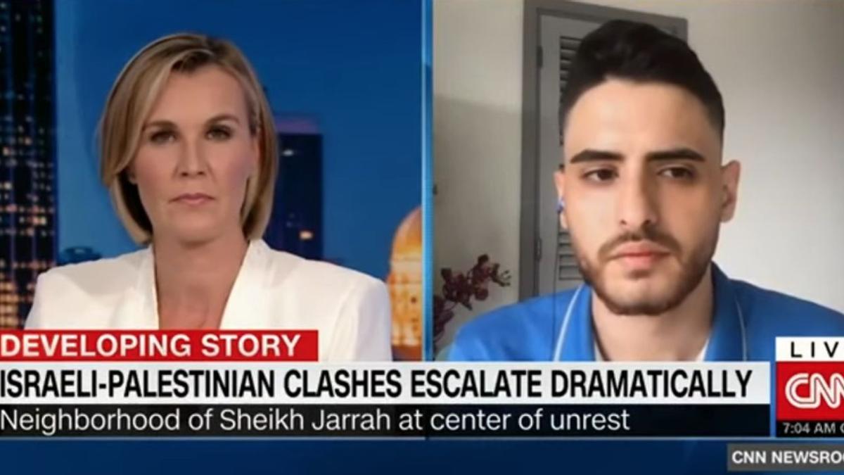 Mohammed El-Kurd en su intervención en la CNN hace unos días