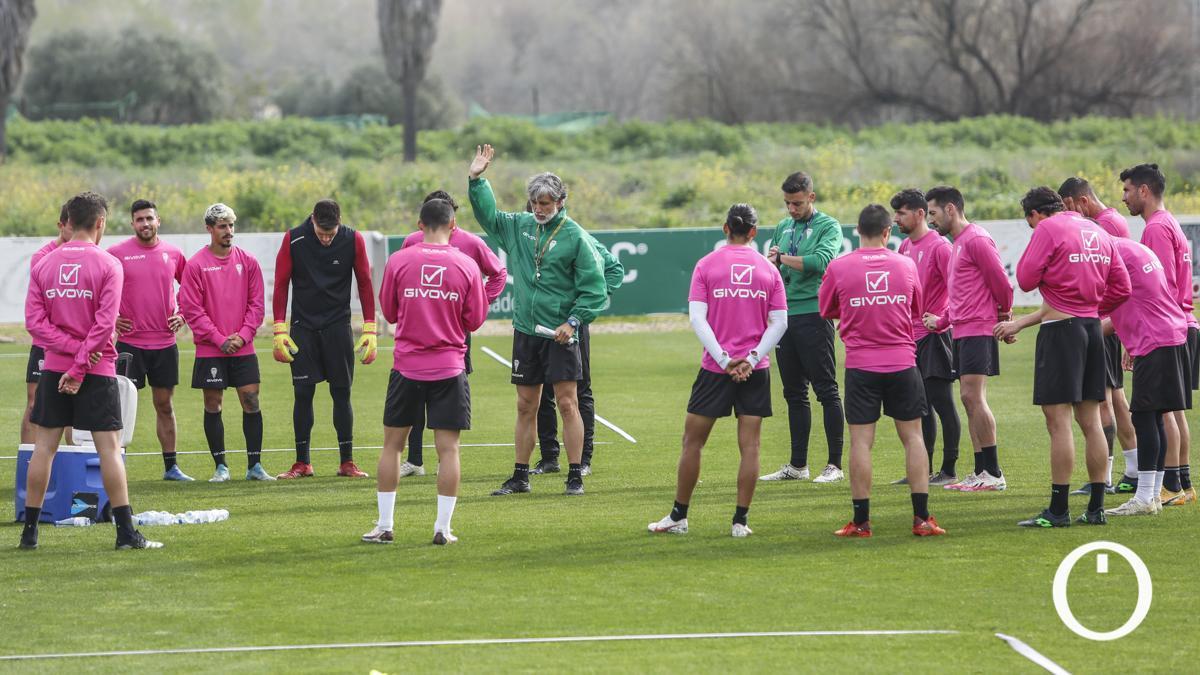 Entrenamiento del Córdoba en la Ciudad Deportiva.