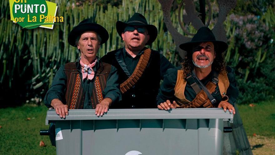Imagen de la campaña con el Trío Zapatista.