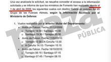 El Gobierno de Rajoy oculta sus primeros vuelos en aviones oficiales tras desvelar los que hizo el exministro Blanco a Galicia