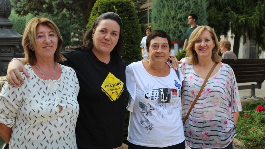 Lourdes González, Verónica García, Lola Moreno y Juana Ibáñez, de la Red Feminista de Albacete. FOTO: Lourdes Cifuentes.